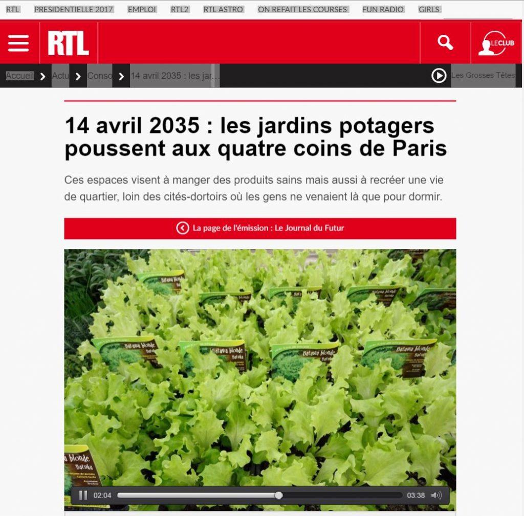 Les Incroyables Comestibles dans Chronique du futur RTL Martial You