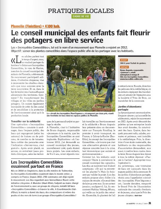 Gazette des Communes