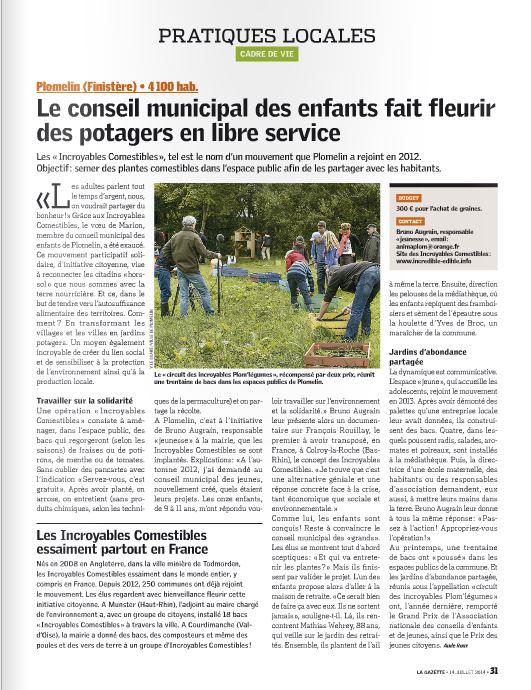 Gazette des Communes