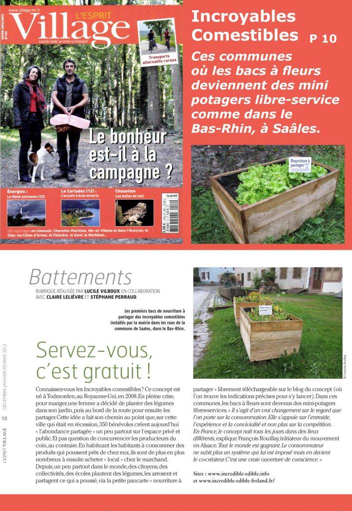 L'Esprit Village - Presse