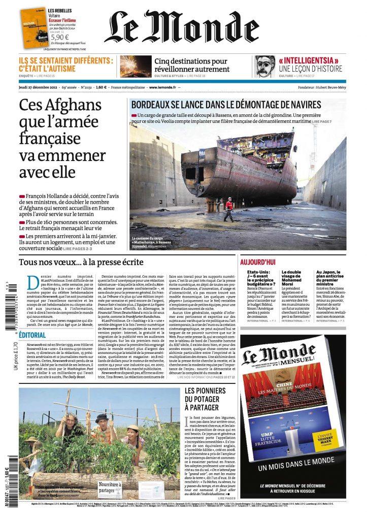 Le Monde - Presse