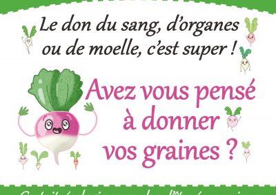 Affiche Grainothèques Appel aux Dons - Saint-Brieuc