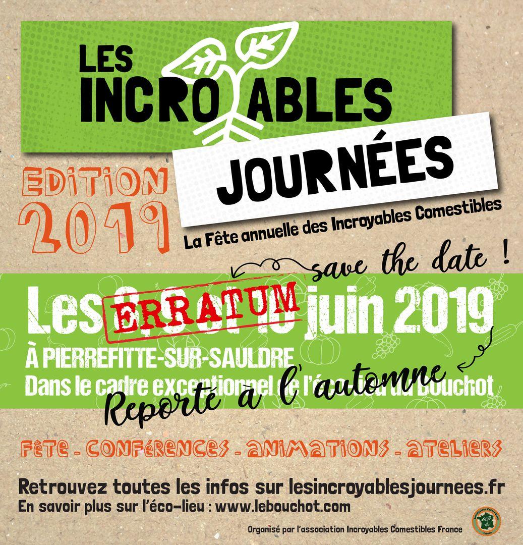 Invitation Incroyable Journée 2019 - Erratum